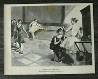 HO4) Holzstich 1885-1900 Helus Scheiner - Pause Balletschule Ballett Schule Tanz