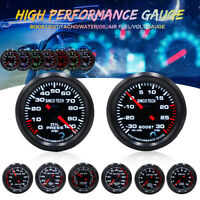 7 Color LED Car Turbo Boost/Water/Oil Temp/Press/Tachometer/Exhaust Gas Gauge