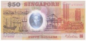 Singapore 50 Dollar 09.08.1990 P.31  Banknote - Hu Tsu Tau   -MINT