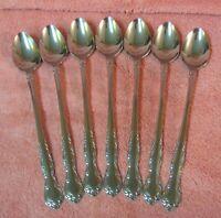 7 Northland / Oneida SIROCCO Stainless Steel Iced Tea Spoons Japan Unused