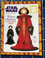 New Random House Star Wars Episode I Queen Amidala Paper Doll Book Free Ship