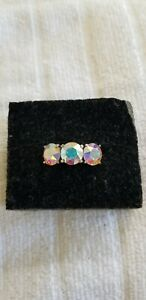 Swarovski Aurora Borealis Crystal Ring Size 9