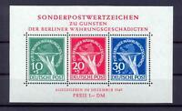 Berlin Block 1 II Währungsgeschädigte postfrisch Plattenfehler (ws57)