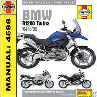 BMW R1200 R1200GS R1200R R1200RT R1200ST Twins 2004-2009 Haynes Manual 4598 NEW