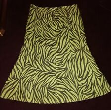 CC Ladies Skirt Country Casuals 100% Linen   UK 14 Green Very good condition