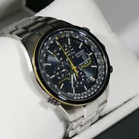 Citizen Eco- Drive  Blue Angels Chronograph Stainless Steel Watch AT8020-54L