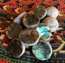Flashy Highly Polished Front Blue Green  Labradorite Stones/Pebbles/Emma Eggs
