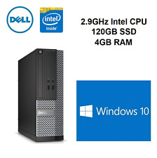 DELL Optiplex 3010 SFF 2.9Ghz 4 Go 120 SSD Windows 10 Wi-Fi ORDINATEUR PC de