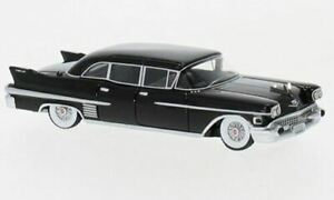 HO 1:87 BOS # 87615 - 1958 Cadillac Fleetwood 75 Limousine, Black