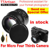 TTArtisans 50mm F1.2 APS-C Lens for Micro Four Thirds Camera GH4 GH3 OMD EM1