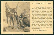 Militari Reggimento Cavalleria Lancieri Lettere dal Campo cartolina XF2851