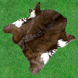 """New Cowhide Rugs Hair On COW HIDE Rugs Area Cow Skin Leather Rugs (30"""" x 33"""")"""