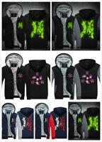 NARUTO0 Hoodie Sweatshirt Zipper Print Sweater Winter Thicken Coat Jacket Top
