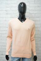 TOMMY HILFIGER Maglione Felpa Uomo Taglia M Sweater Cardigan Cotone Pullover