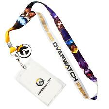 OFFICIAL Overwatch Lanyard | Feat. D. Va & More | Includes ID Holder & Logo Coin