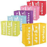Large 3 Section Laundry Washing Clothes Bag Hamper Sorter Folding Organiser New