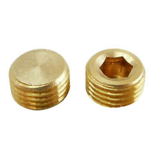 """5X 1/4"""" BSP Male Thread Copper Hex Socket Plug Connector Coupling Adapter N H8F1"""