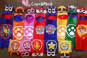 Paw Cape Mask for Paw Patrol Birthday Party Favors Supply,Chase,Marshall Costume