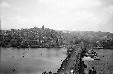 TURQUIE c. 1960 - Panorama Pont de Galata Istanbul - Négatif 8,5 x 6 - Tur 72