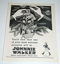 Vintage 1935 Johnnie Walker Whiskey Print Ad