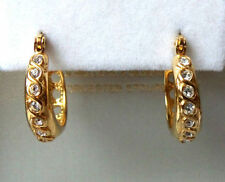 Unbranded Huggie Yellow Gold Round Costume Earrings