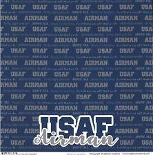 SC - US Air Force Active Duty Scrapbooking Paper - 1 sheet - 38627