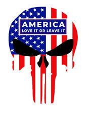 AMERICA PUNISHER DIECUT DECAL WINDOW BUMPER STICKER POLITICAL TRUMP USA FLAG