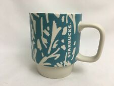 Starbucks 2016- Coffee Mug-12 Fl Oz- Light Blue & White