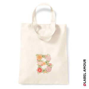 PERSONALISED Favour Party Gift Canvas Tote Bag | Initial