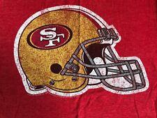Men's NFL Team Apparel SF San Francisco 49ers Niners Football Shirt Small S Red