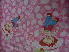 Strawberry Shortcake  Novelty Twin Fitted  Bed Sheet Fraismette 2005