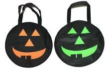 Halloween Loot Party Pumpkin Trick or Treat Tote Candy Bags Kids Children Toy