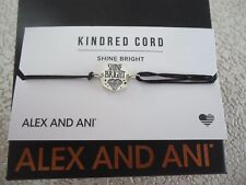 Alex and Ani SHINE BRIGHT Pull Cord Bracelet New W/ Box
