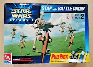 71-30139 AMT-ERTL 1/6 Scale STAR WARS STAP WITH BATTLE DROID Plastic Model Kit