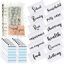 28 Pieces A6 Binder Pockets With Notebook Cover Planner Budget Binder Organize