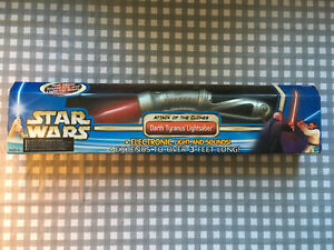 Star Wars - Attack of the Clones - Darth Tyranus Count Dooku lightsaber - Hasbro