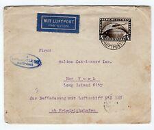 4M on 1928 Graf Zeppelin Flight Friedrichshafen - Ny Usa Si21.B) Cv100 Euros
