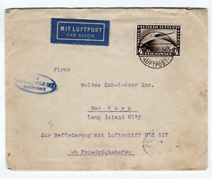 4M on 1928 Graf Zeppelin Flight Friedrichshafen - NY USA Si21.B) CV100 Euros