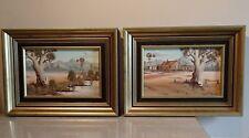 PAIRE TABLEAUX paysages Australien, peinture signé Jim Kucsak