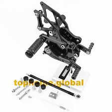 For Kawasaki Ninja 300 2013-2016 Foot Pegs Brake Rear Set Adjustable Black 2015
