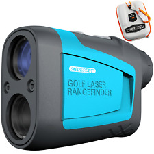 MiLESEEY 650 Yards Laser Golf Rangefinder with Slope Flag Locking Free Carry Bag