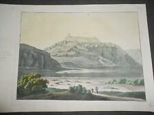 1820 BEAUTIFUL COLORED AQUATINT VIEW COFRE DE PEROTE MEXICO Nauhcampatépetl