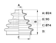 Borg & Beck Driveshaft Bellow CV Joint Boot Kit BCB1004 - 5 YEAR WARRANTY