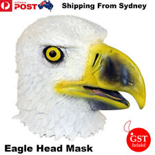 Eagle Head Mask Creepy Animal Halloween Costume Theater Prop Latex Novelty Toys