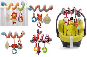 Baby Activity Spiral Hanging Toy Pushchair Pram Stroller Bedding Car Seat Cot UK