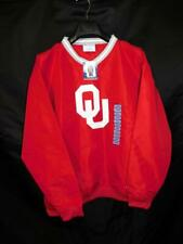 Champion L NWT Red White OU Oklahoma Sooners Jacket Pullover Windbreaker Shirt