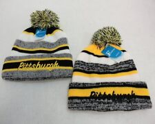 24 PC Lot Pittsburgh Embroidered Beanie PomPom Winter Toboggan Hats Stripes