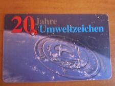 selteneTelefonkarte,20 Jahre Umweltzeichen, 12 DM