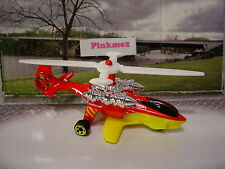 2015 RESCUE RACERS Exclusive SKY KNIFE∞Red/Yellow/White Copter☆LOOSE Hot Wheels