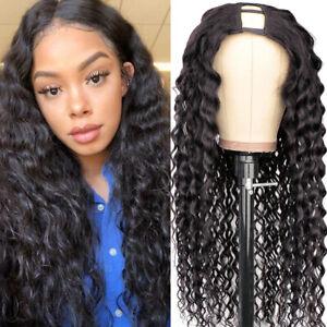 Water Wave U Part Wig Human Hair for Black Women Remy Human Hair U part Wig 150%